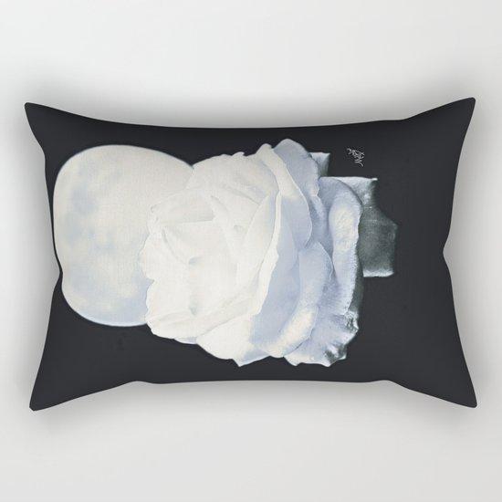 Moon Rose (2) Rectangular Pillow