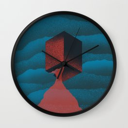 RED CUBE Wall Clock