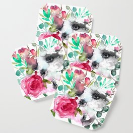 anemone and rose Coaster