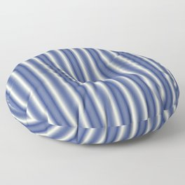 Blue and Cream Stripes Floor Pillow