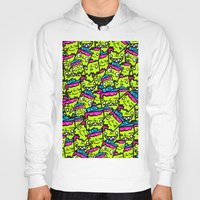 sticker Hoodies featuring Sticker Puke by NatalieNewportman