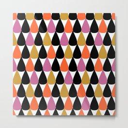 Stylish colorful drop pattern Metal Print