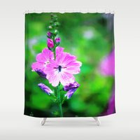 bugs Shower Curtains featuring Summer Bugs by Ace Crescent