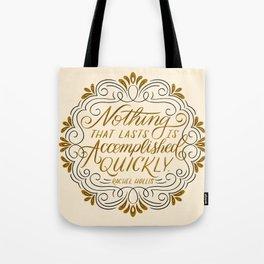 Rachel Hollis Perseverance Quote Tote Bag