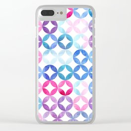 Geometric pattern with petals. Turkish pattern. Clear iPhone Case