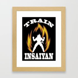 Train insaiyan Framed Art Print