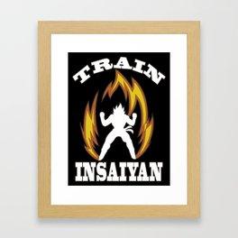 Train insaiyan Framed Art Print