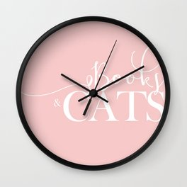 Books And Cats V2 Wall Clock