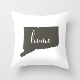 Connecticut is Home Throw Pillow