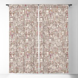 gingerbread town Blackout Curtain