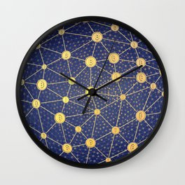 Cryptocurrency mining network Wall Clock