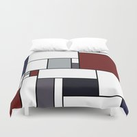 marceline Duvet Covers featuring Mar Mar by S. Michelle Reese