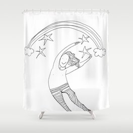 Leaps and Bounds Shower Curtain