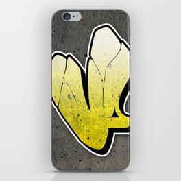 V - Graffiti letter iPhone Skin