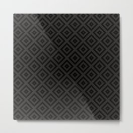 V23 Black Texture Lovely Traditional Pattern. Metal Print