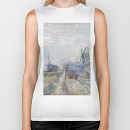 Montmartre - Windmills and Allotments by Vincent van Gogh Biker Tank