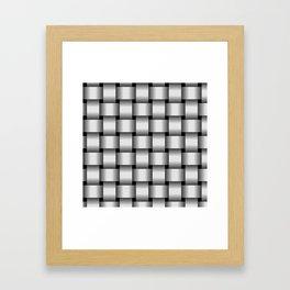 Large Pale Gray Weave Framed Art Print