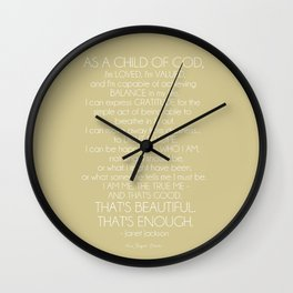 Janet Jackson Quote Wall Clock