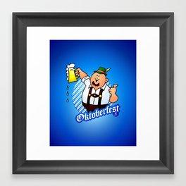 Oktoberfest - man in lederhosen Framed Art Print