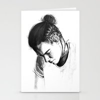 harry styles Stationery Cards featuring Braids by Judit Mallol