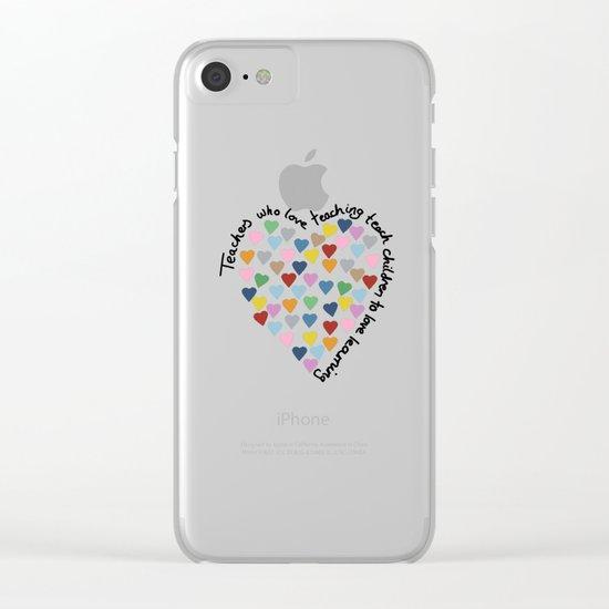 Hearts Heart Teacher Clear iPhone Case