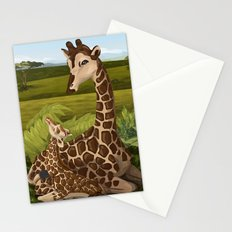Giraffes, A Mother's love Stationery Cards