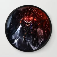 titan Wall Clocks featuring Shadow Titan by Benedick Bana