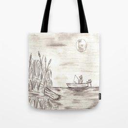 Moonlight Fishin' Tote Bag