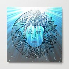 Sun Spirit meet Moon Beam Metal Print