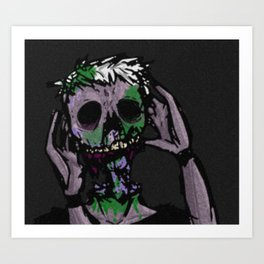 Zombies Night Art Print