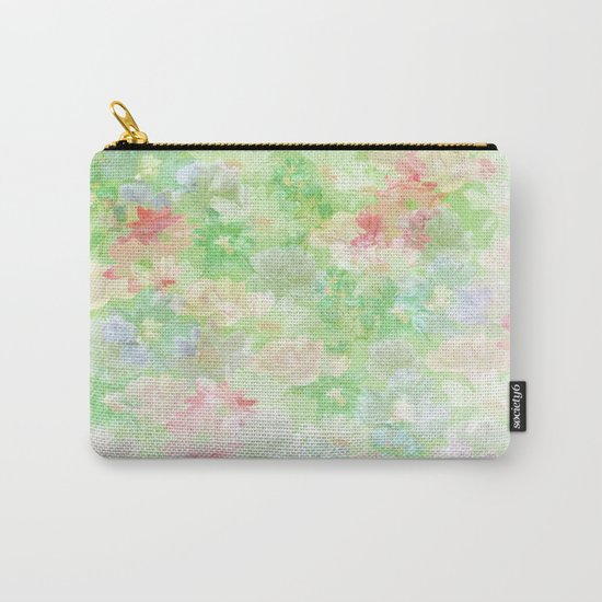 Mint Green Spring Floral Abstract Carry-All Pouch
