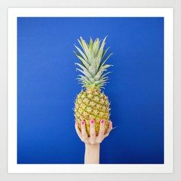 Blue Pineapple Art Print