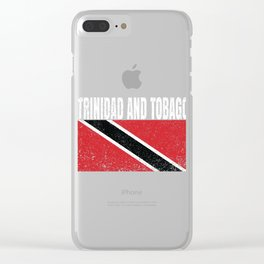 Trinidad And Tobago Flag Vintage Trinidadian National Country Gift Clear iPhone Case