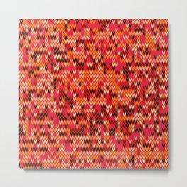 Melange knit textile 3 Metal Print