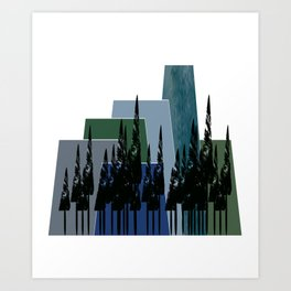High Mountains Art Print