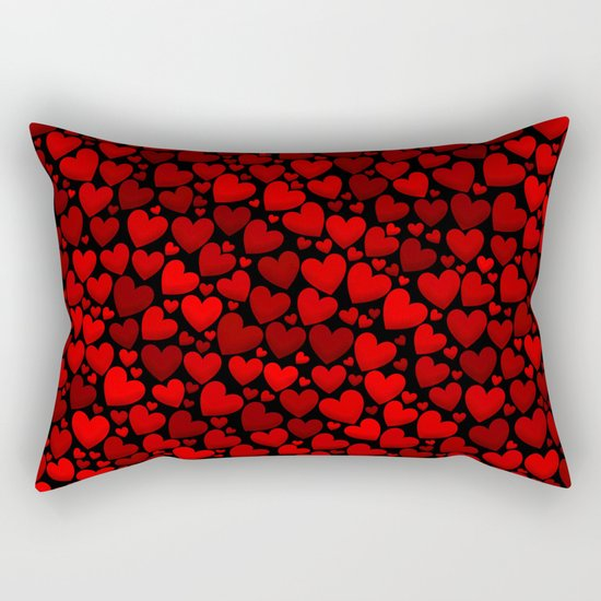 Red hearts Rectangular Pillow