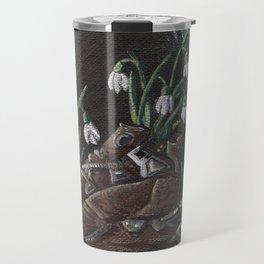 Snowdrop and a shoe Travel Mug