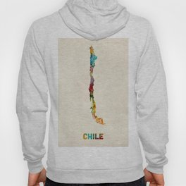 Chile Watercolor Map Hoody