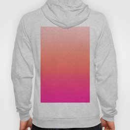 Gradient Ombre Living Coral Millennial Plastic Pink Pattern Peachy Orange Soft Trendy Cute Texture Hoody
