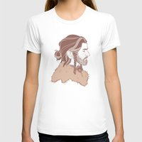 "thorin T-shirts featuring Thorin 'Manbun"" Oakenshield by rdjpwns"