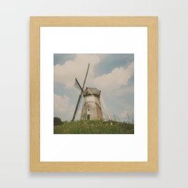 A mill in rural The Netherlands Framed Art Print