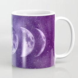 Lunar Moon Phases - Teal and Purple Coffee Mug