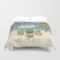 relax Duvet Covers featuring relax by ulas okuyucu