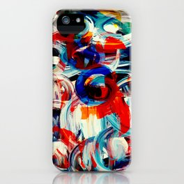 Abstract Action American Painting iPhone Case