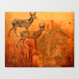 Here is a sad story about a deer and a man. Canvas Print