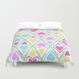 Abstract drawing Heart. Duvet Cover