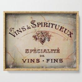 Vins & Spiritueux Serving Tray