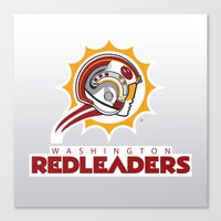 nfl Canvas Prints featuring Washington Red Leaders - NFL by Steven Klock