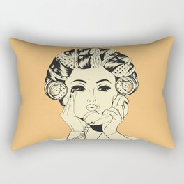 The woman with the curlers Rectangular Pillow