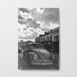 Vintage Beetle on Decatur Metal Print